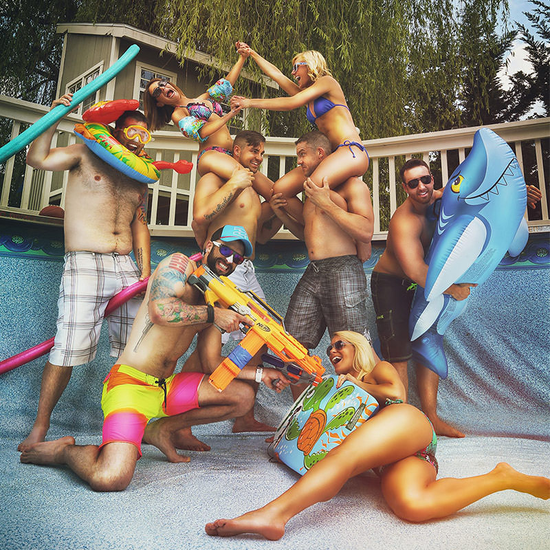 Creative Empty-Pool Photoshoot