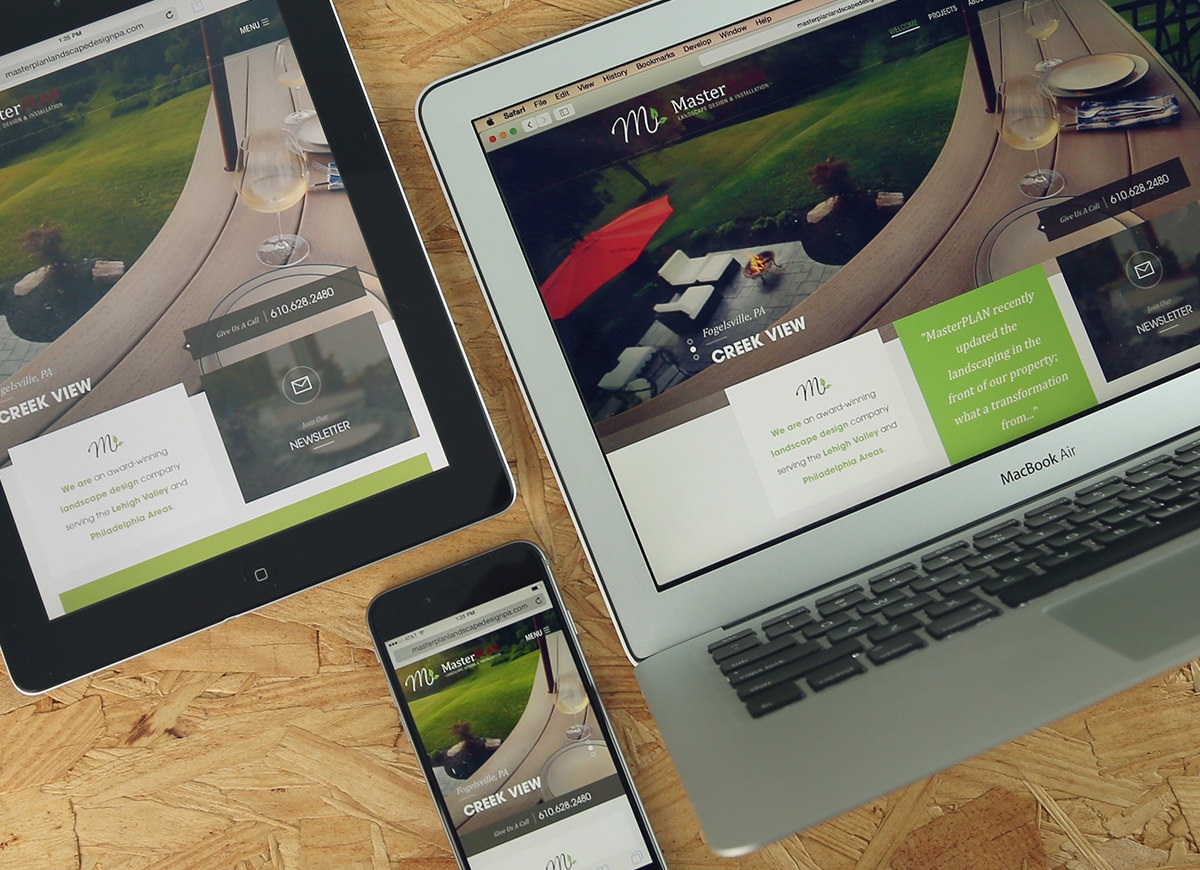 Award-winning website design for MasterPlan Outdoor Living