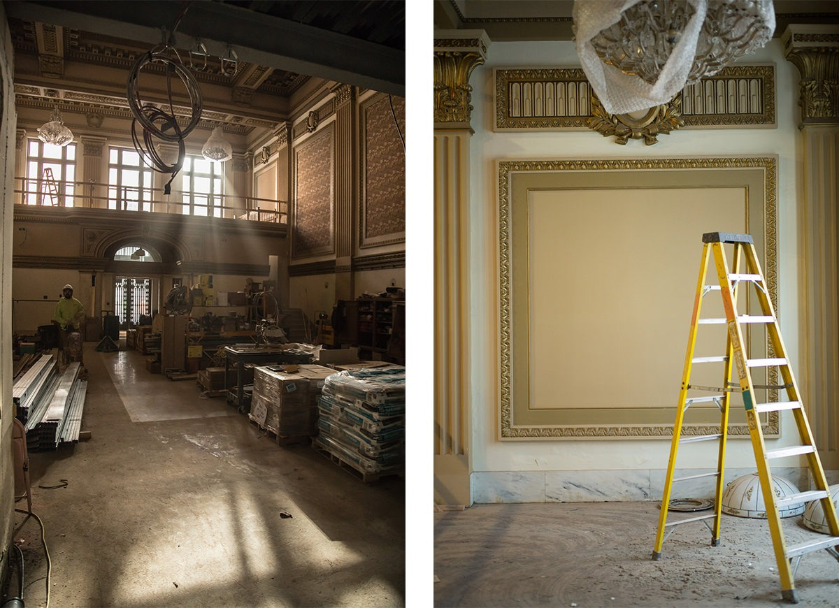 Progress photography of Vault 634 for Jaindl Properties