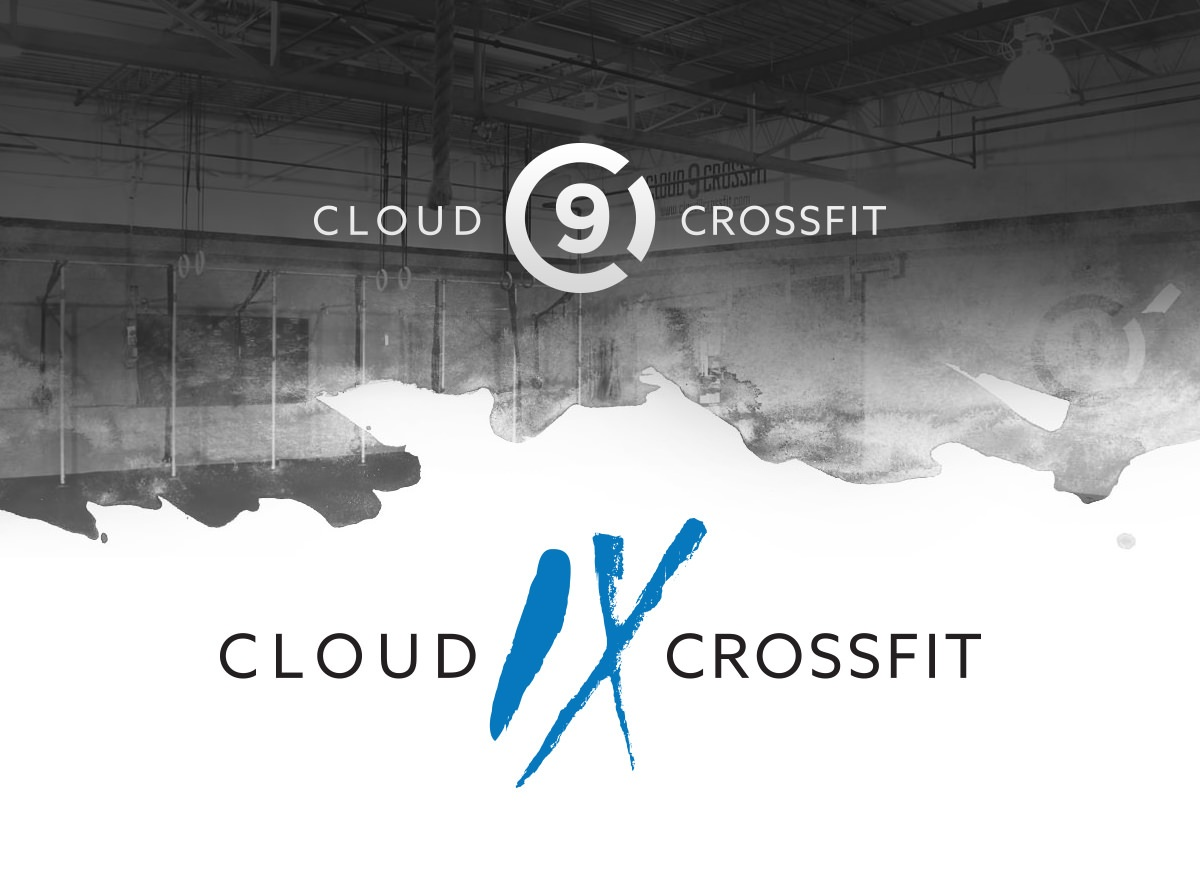 Scalable logo design and icon development for Cloud 9 CrossFit