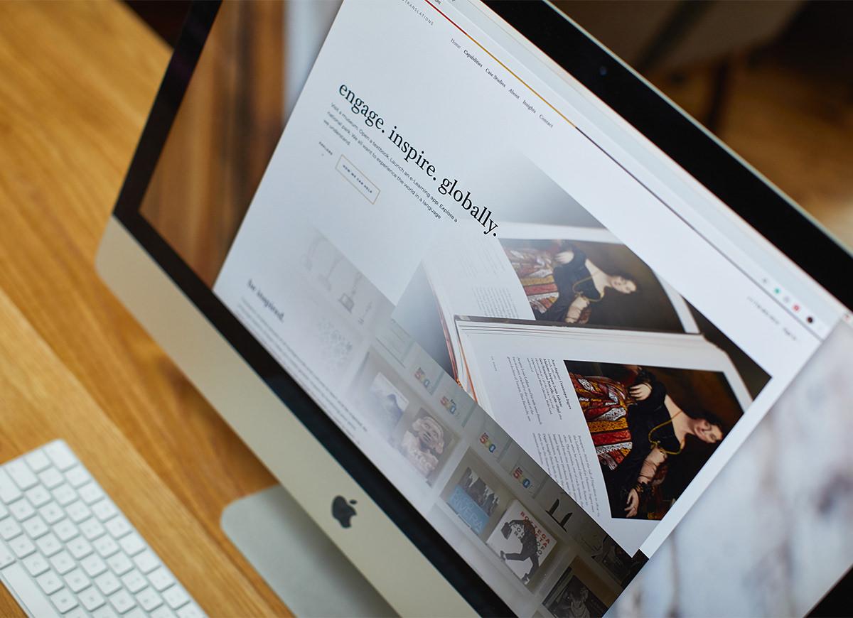 Mobile friendly website design for Eriksen Translations