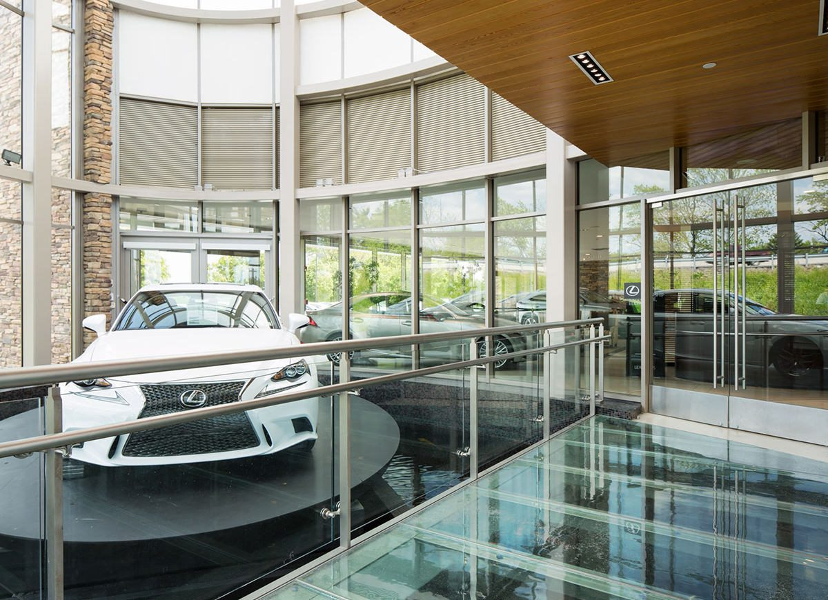 Photography of Lehigh Valley Lexus project for Iron Hill Construction Management