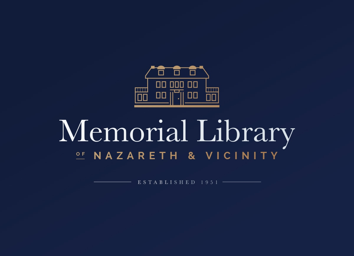 Logo Design for Memorial Library of Nazareth & Vicinity
