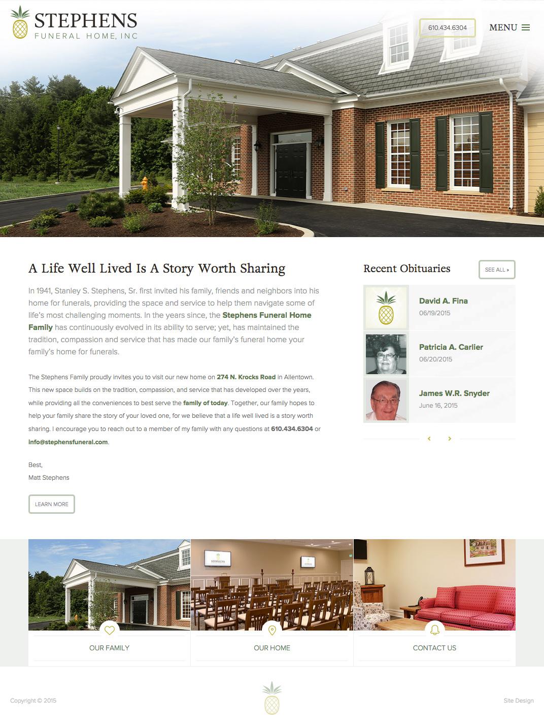 New Website For Allentown Funeral Home - J Taylor Design
