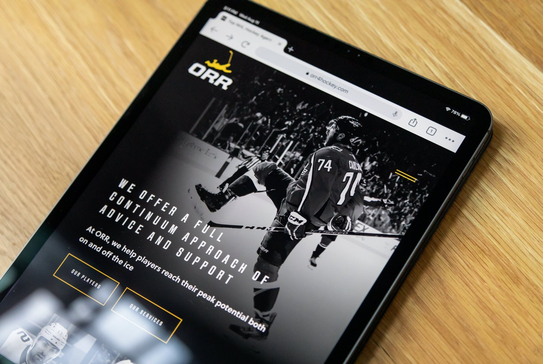 New Website for Top NHL Hockey Agents